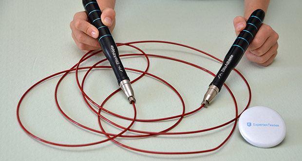EliteAthlete Springseil im Test - durch die ergonomisch geformten Griffe liegt das Speed Rope selbst bei intensiven Einheiten sicher in der Hand