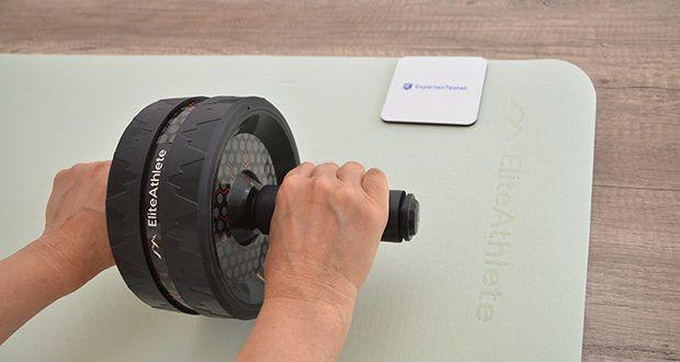 EliteAthlete Yogamatte im Test - bietet dir ein optimales Maß an Polsterung und Schutz, perfekt um mühelos das Gleichgewicht zu halten