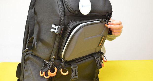 Tarion Kamerarucksack Fotorucksack im Test - doppelte Reißverschlüsse aus robustem Metall