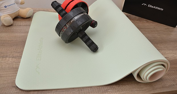 EliteAthlete Yogamatte im Test - wird aus hochwertigem TPE Material hergestellt; frei von PVC & Latex