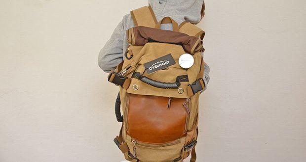 Overmont Vintage Wanderrucksack im Test - ideal für Reise, Camping, Wandern u.s.w.