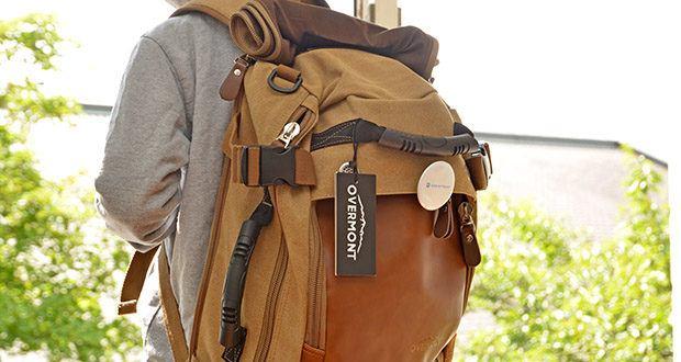 Overmont Vintage Wanderrucksack im Test - drei verschiedene Arten des Tragens: Umhängetasche, Handtasche oder Rucksack