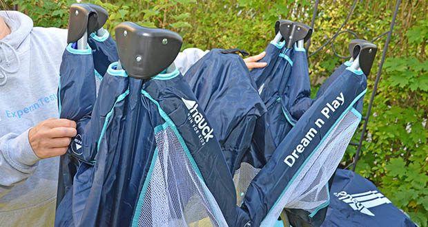 Hauck Babyreisebett Dream N Play Plus im Test - kann Platzsparend in der mitgelieferten Tasche aufbewahrt werden